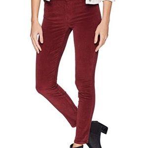 Burgundy lucky brand average leg jeans